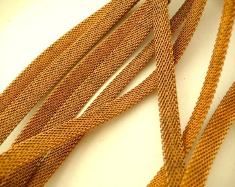 3 ft Mesh Chain - Vintage Solid Brass 6mm (3 ft)