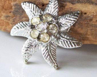 DOLLAR DAZE Brooch, Vintage Etsy, Rhinestone Brooch, Silver Brooch, Starfish Brooch, Vintage Brooch, Vintage Pin, Etsy Vintage, Etsy