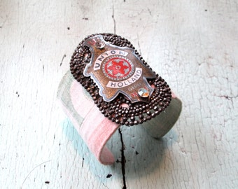 Eco Friendly Cuff Bracelet - Repurposed Vintage
