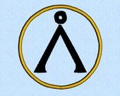 Stargate Earth Symbol machine embroidery design