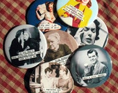 Funny Retro Image Magnets. Any 12 funny magnets.  Bulk Buy. Pick your favorites. 3 inch mylar