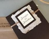 Eco Friendly Handmade Wedding Pocket Invitation with Handmade Recycled Paper
