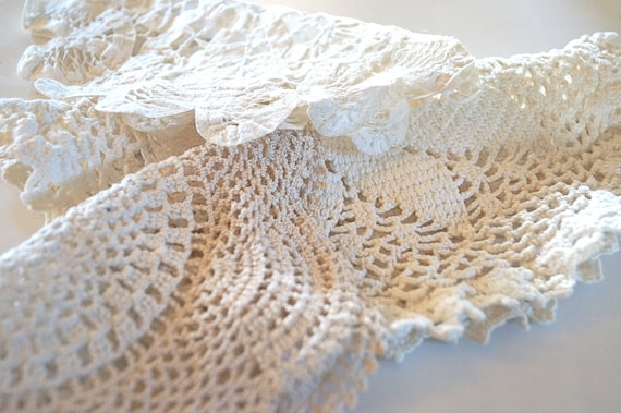 Set of Three Vintage Doilies