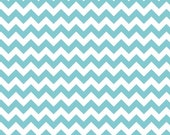 FABRIC SALE, CLOSEOUT Sale, Riley Blake Small Chevron Stripes Aqua Blue Stripes, 3.99 per Yard