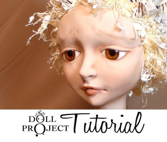 Art Doll Bust Tutorial - Secrets Bust - How to sculpt a doll face and bust - Diy