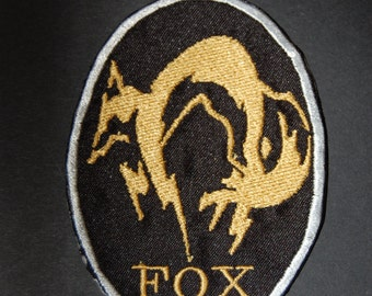 Metal Gear Solid Fox Iron On Patch