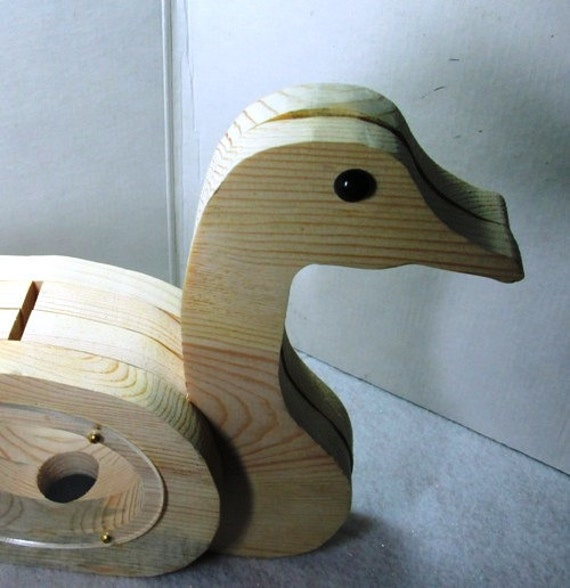 Wooden duck coin bank cute handmade toy wooden by for Handmade coin bank