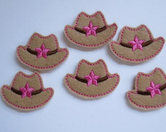 Cowgirl Hat Felt Embellishment Applique - 026
