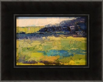oil painting, landscape, miniature, framed, original