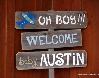 New Baby Gift Baby Shower Sign Decorations Its a Boy Sign Its A Girl Sign Welcome Home Baby Yard Sign Baby Maternity Sign Wooden Signs