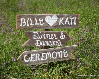 Wedding Signs, Ceremony Sign, Dinner Sign, Dancing Sign, Rustic Wedding Sign, Outdoor Wedding Signs, Wood Wedding Signs, Large Signs, Road