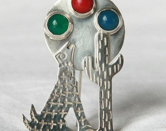 Sterling silver Taxco Mexico brooch