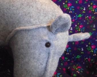 Hippo HIPPOPOTAMUS Hippopotomus Stuffed Animal Pattern to Sew PDF Instant Download