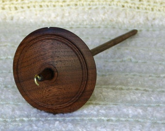 Walnut Pavilion Style Top Whorl Drop Spindle