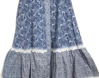 Gunne Sax Vintage Prarie Skirt Size XS to S