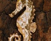 Seahorse Pendant in Gold Bronze