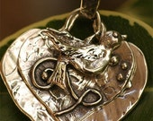 Rustic Artisan Don't Lose Heart It will be Okay Pendant in Sterling Silver