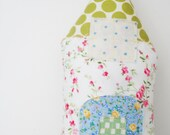 Petite House // New series // lavender// pink roses green polka dots fabric house // lavender pillow