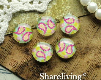 Glass Cabochon, 8mm 10mm 12mm 14mm 16mm 20mm 25mm 30mm Round Handmade photo glass Cabochons  -- BCH198P
