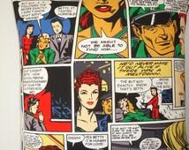 "16x16 Pillow Cover Comic Strip Cartoon 16"" Cushion Sham Slip Case Pillowcase Betty Pop Art Roy Lichtenstein Style Red Blue Green Black NEW"