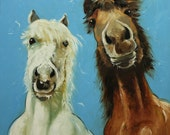 Horses 9 20x20 inch Print of oil painting by Roz
