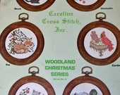 Vintage Cross Stitch patterns Woodland Christmas Series