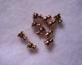 Surgical Steel Stud Earring Backs, Gold Stud Post Backs, Diy Jewelry Supplies, Stud Hardware, Stud Findings, Hypo Allergenic Stud Backs