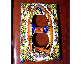 Virgin of Guadalupe switch plate retro Mexico pop culture saint outlet light switch