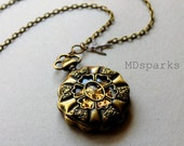 Pocketwatch Necklace Steampunk mechanical watch