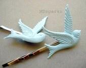 Vintage Bluebird Bobby Pins