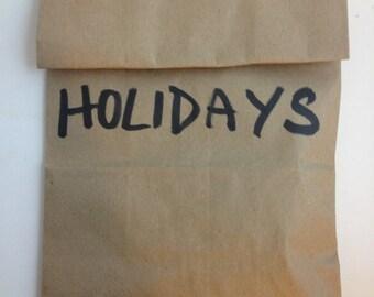 Grab Bag of Holiday Erasers