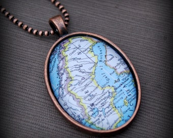 Sweden Map Necklace