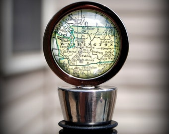 Washington Map Wine Bottle Stopper