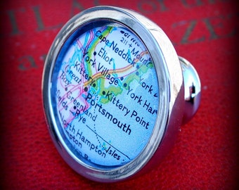 Portsmouth Map Drawer Pull Cabinet Knob Handle