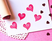 Swirl Heart Rubber Stamp