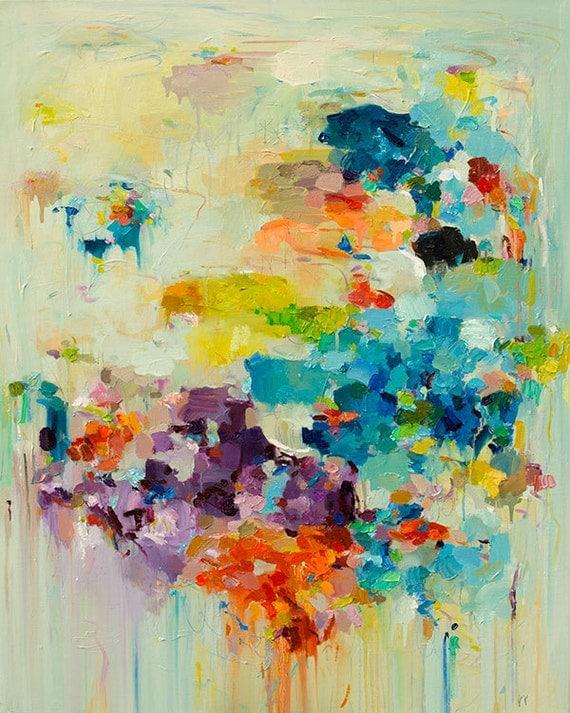 Abstract art Print, Abstract Painting, Oil Painting, Fine Art Print , Giclee Print , Wall Art ,  Cloud Print 11x14 12x15 16x20 20x25