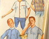 Vintage 1965 Sewing Pattern Simplicity 6285 Boys' Baseball Shirts Jackets Size 12 Chest 30 inches Complete
