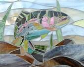 Rainbow Trout Card - Mosaic Art - Fish Card - Mosaic Trout Greetings Card - Fish Lover Card - Fish Art  Fisherman Gift Trout Art Mosaic Fish