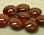 Vintage CARNELIAN Beads Brownish Carved ABACUS12 mm pkg 8 cb206B