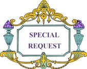 Special Request Listing - 1 Clear Crystals Chandelier Light Switch Plate Cover