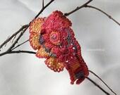 Hope for spring, crocheted bracelet, bohemian
