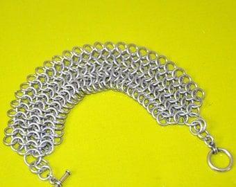 Chain Maille Bracelet, Unisex Bracelet, Chain Maille Jewelry, Man Bracelet, Woman Bracelet