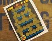 Vintage Scratch Card - Donkey Kong Rub Off Game - Blue Version - 80s Video Games, Vintage Nintendo, Vintage Arcade, Vintage Donkey Kong