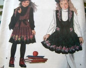 Daisy Kingdom Sewing Pattern 9167 Girls Jumper and Vest  Sizes 3-6