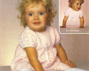 Vintage Toddlers Dress, Knitting Pattern, 1960 (PDF) Pattern, Sirdar 3305
