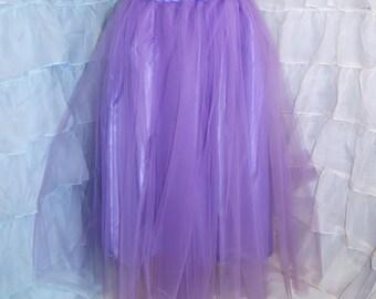 Lavender Pastel Purple Floor Length Formal Fantasy Skirt adult Medium MTcoffinz - Ready to Ship