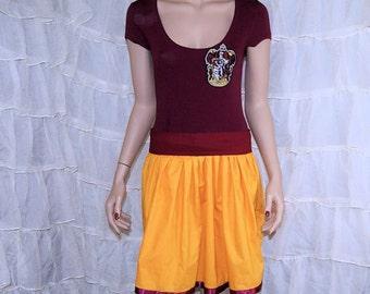 Gryffindor Summer Dress Cosplay Costume Adult Medium MTCoffinz- Ready to Ship
