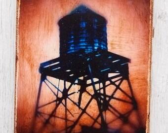 Wall Art - NYC   Blue Watertowers -  1 -  Photo 4x6