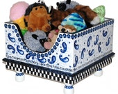 Blue Willow Pet Toy Box by Jakey BB