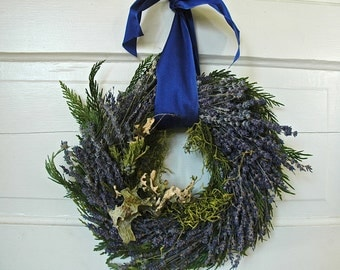 Woodland Wreath Handcrafted of Montana Lavender Moss, Lichens, Twigs